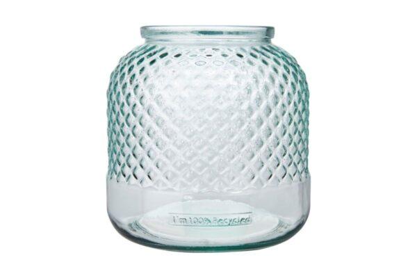 Porte-bougie en verre recyclé