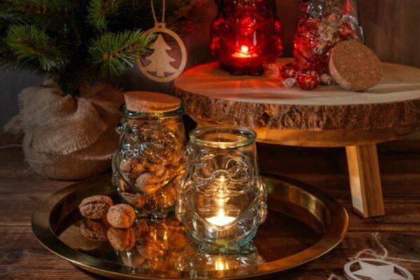 Assortiment décoration en verre recyclé